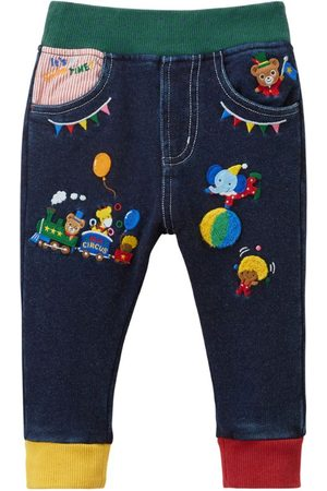 Miki House Embroidered Jeans (1-7 Years)