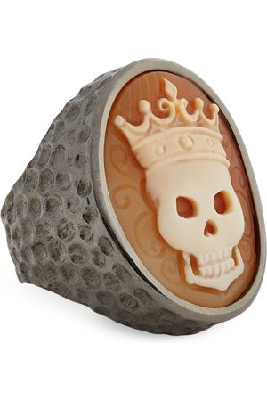 AMEDEO Skull Crown Ring (One Size)