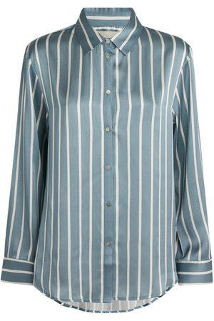Asceno Silk Striped London Pyjama Shirt