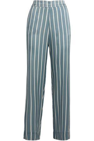 ASCENO Silk Striped London Pyjama Bottoms