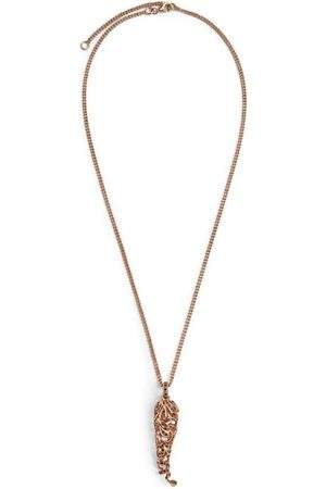 AMEDEO Sterling Silver and Diamond Horn Necklace