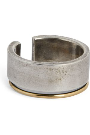 TITLE OF WORK Sterling Silver and Yellow Gold Ring (One Size)