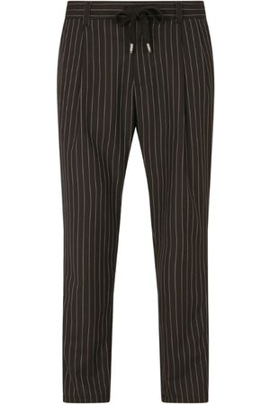 Dolce & Gabbana Pinstripe Drawstring Trousers