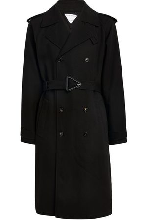 Bottega Veneta Triangle-Buckled Trench Coat