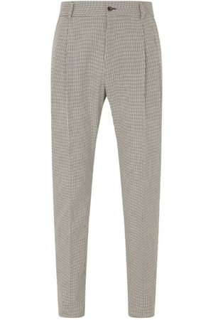 Dolce & Gabbana Cotton Houndstooth Trousers