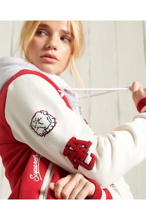 Superdry Women Bomber Jackets - Collegiate Scripted Baseball Bomber Jacket