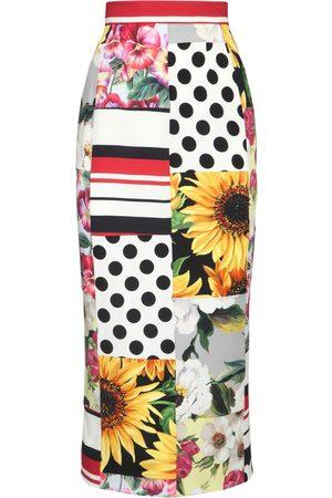 Dolce & Gabbana Women Midi Skirts - Silk Charmeuse Pencil Midi Skirt