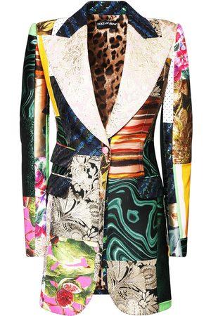 Dolce & Gabbana Women Jackets - Jacquard Printed Patchwork Jacket