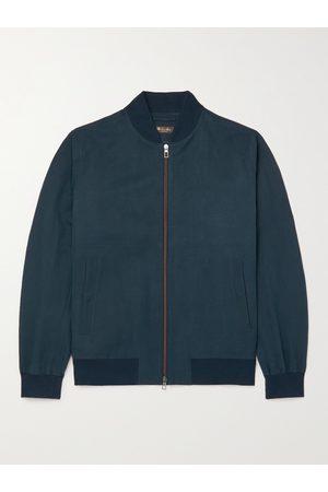Loro Piana Men Summer Jackets - Ivy Linen and Silk-Blend Bomber Jacket