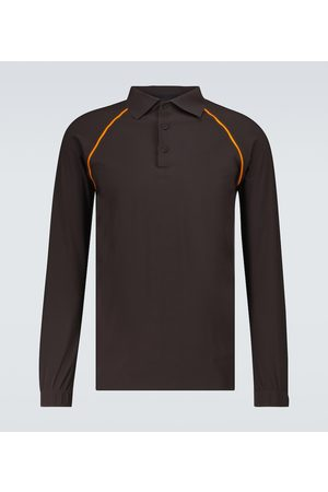 GR10K Men Polo Shirts - Taped Ultrasound long-sleeved polo