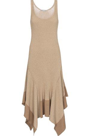 Stella McCartney Women Midi Dresses - Asymmetric cotton-blend midi dress