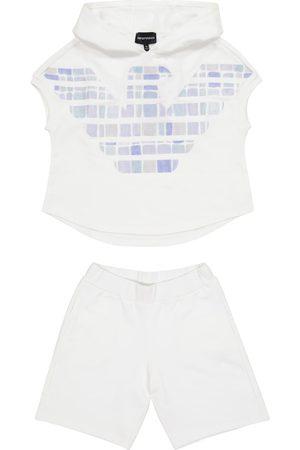 Emporio Armani Cotton sweatshirt and shorts set