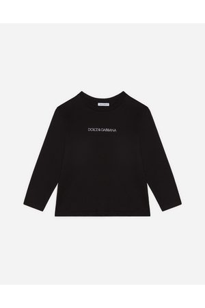 Dolce & Gabbana Boys Long Sleeve - T-Shirts and Polo - LONG-SLEEVED JERSEY T-SHIRT WITH LOGO EMBROIDERY male 6