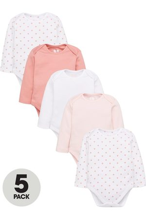 Very Baby Girls 5 Pack Long Sleeve Essential Bodysuits - Mix