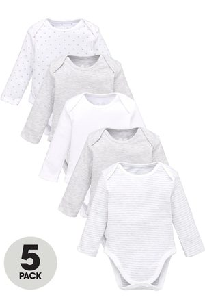 Very Baby Unisex 5 Pack Long Sleeve Essentials Mix Bodysuits