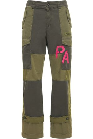 Palm Angels Men Trousers - Patchwork Military Canvas Cargo Pants