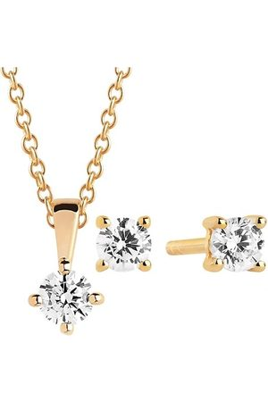 Sif Jakobs Necklaces - Princess Piccolo Round White Set - - Necklaces for ladies