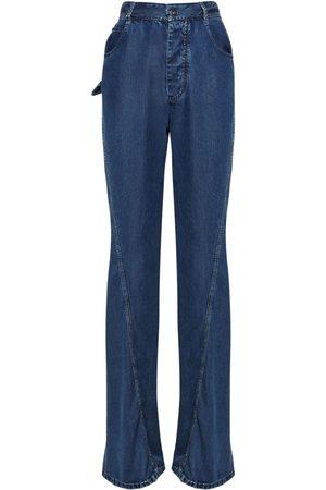 Bottega Veneta Women Straight - Fluid Cotton Denim Straight Leg Jeans
