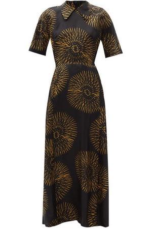 Raey Batik-print Silk Tea Dress - Womens - Print