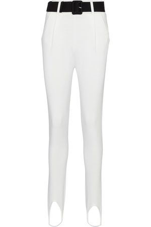 Self-Portrait Women Skinny Trousers - Belted high-rise skinny stirrup pants