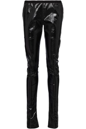 Rick Owens Coated cotton-blend leggings