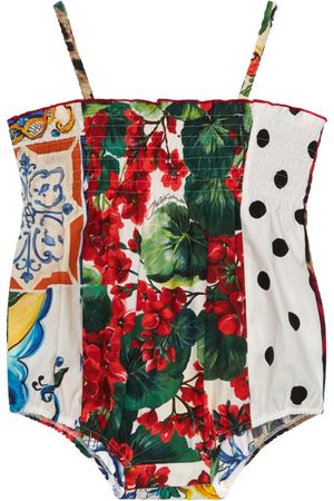 Dolce & Gabbana Patchwork Cotton Poplin Bodysuit