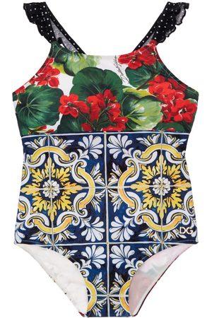 Dolce & Gabbana Patchwork Lycra One Piece Swimsuit