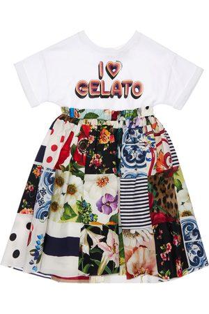 Dolce & Gabbana Patchwork Jersey & Poplin Dress