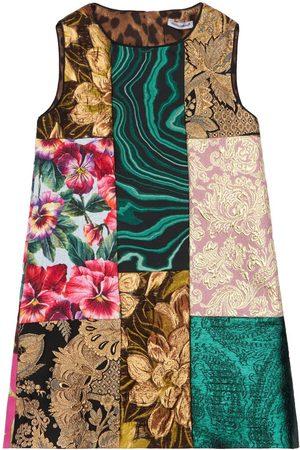 Dolce & Gabbana Patchwork Brocade Party Dress