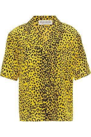 Être Cécile Women Tops - Être Cécile Woman Leopard-print Silk Crepe De Chine Top Size 34