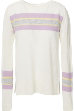 Charli Women Jumpers - Woman Camomile Striped Cashmere Sweater Ivory Size L