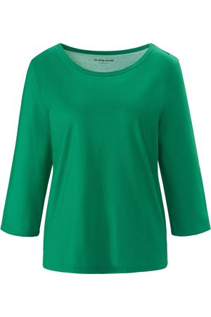 Green Cotton Round neck top in 100% cotton size: 12