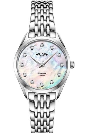 Rotary Women Watches - Pink Dial Stainless Steel Bracelet Watch