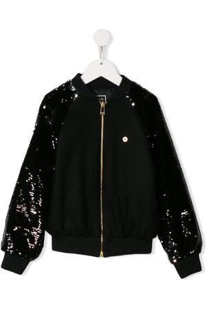 VERSACE Girls Bomber Jackets - Sequinned bomber jacket