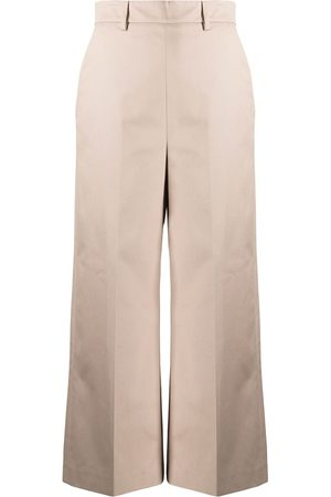 Msgm Cropped tailored trousers - Neutrals