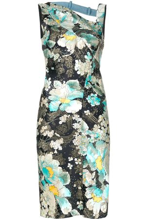 Dior 2000s pre-owned floral-pattern sheath dress