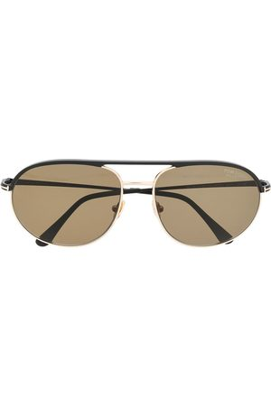 TOM FORD Eyewear Men Sunglasses - Rounded-aviator sunglasses