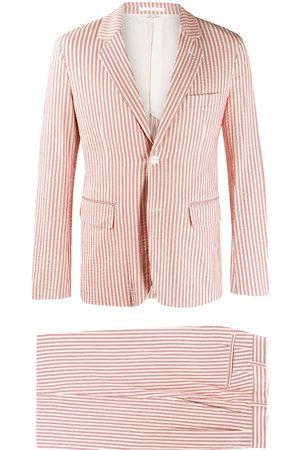 Comme des Garçons Striped jacket and shorts - Neutrals