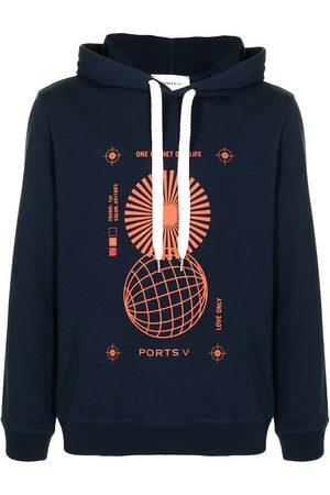 """Ports V """"ONE PLANET ONE LIFE"""" print sweatshirt"""