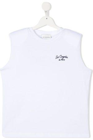Les Coyotes De Paris Tank Tops - TEEN Devon embroidered sleeveless T-shirt