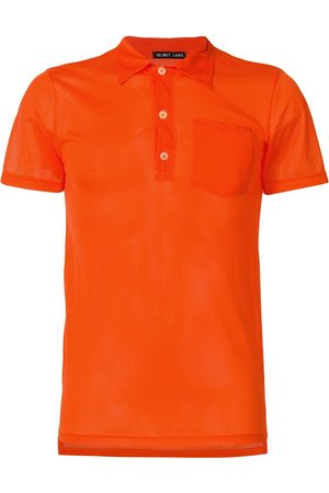 Helmut Lang Mesh fitted polo shirt