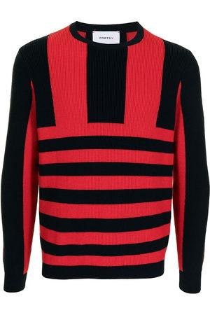 Ports V Sweatshirts - Stripe-print knitted jumper