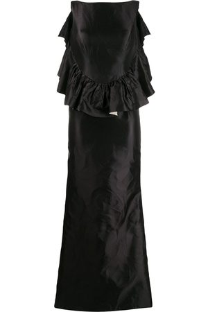 Escada Women Evening Dresses - 2000s ruffle mermaid gown