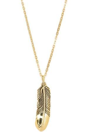AMBUSH Feather charm silver necklace