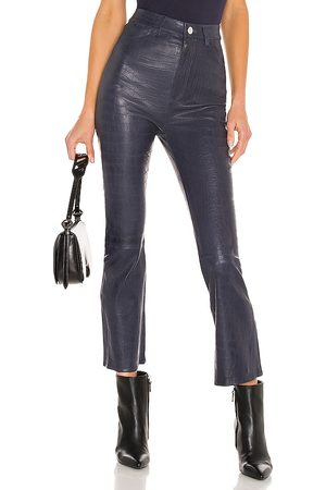 SPRWMN Embossed 5 Pocket Crop Flare Pant in . Size M, S, XS.
