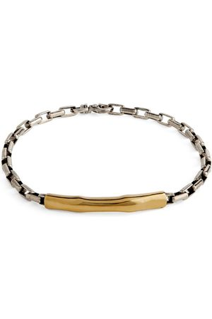 TITLE OF WORK Sterling and Yellow Gold Chain Bracelet