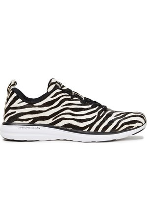 APL® ATHLETIC PROPULSION LABS Women Trainers - Woman Pro Zebra-print Calf Hair Sneakers Animal Print Size 10