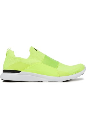 APL® ATHLETIC PROPULSION LABS Women Trainers - Woman Bliss Neon Mesh And Neoprene Slip-on Sneakers Bright Size 10