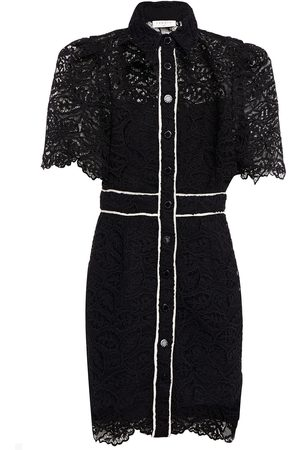 Sandro Woman Livy Grosgrain-trimmed Corded Lace Mini Shirt Dress Size 34