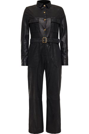 Muubaa Women Jumpsuits - Woman Apollo Belted Coated-suede Jumpsuit Size 10